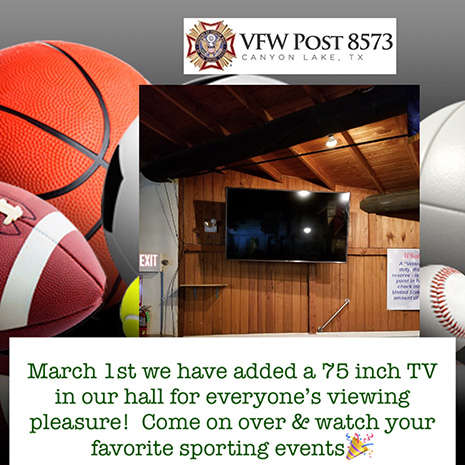 Canteen 75 Inch TV